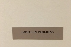 Labels in Progress