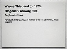 Wayne Thiebaud Label