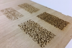Texture test using the laser cutter