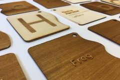 Final result of the tactile alphabet